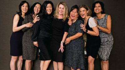 Chipsters, from left: Michelle Lee, Julie Mar-Spinola, Mallun Yen, Noreen Krall, Emily Ward, Mona Sabet and Anirma Gupta